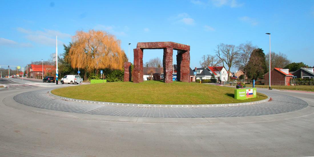 Foto van rotonde in Milsbeek