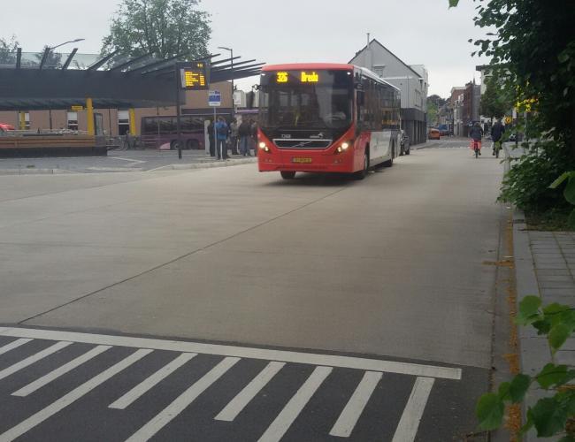 Busplatform in beton