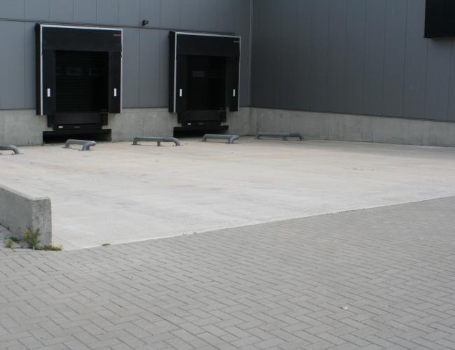 Laad dock van beton