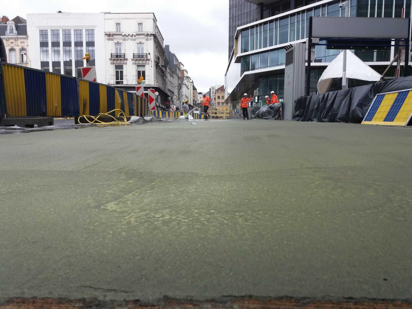 Uitgewassen beton Brussel