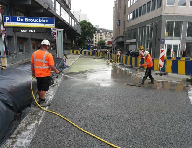 Uitwassen van beton Brussel