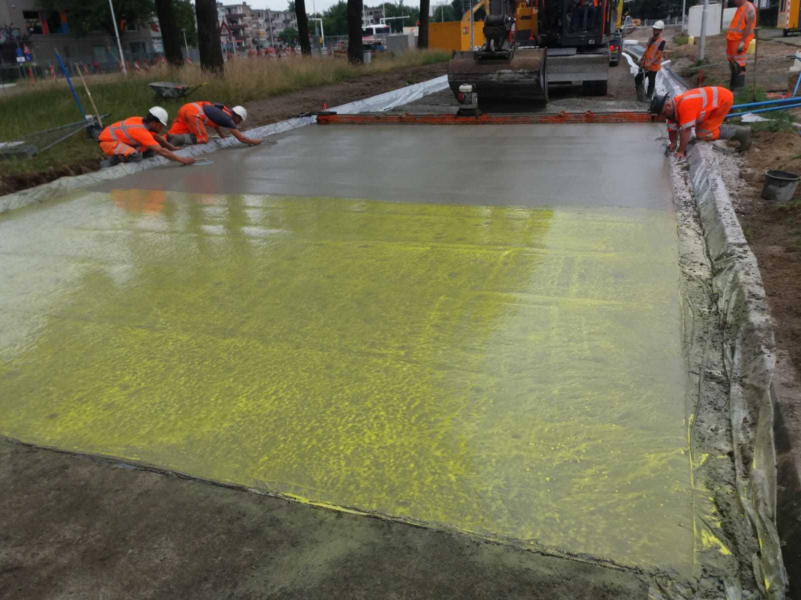 Uitgewassen beton in Eindhoven