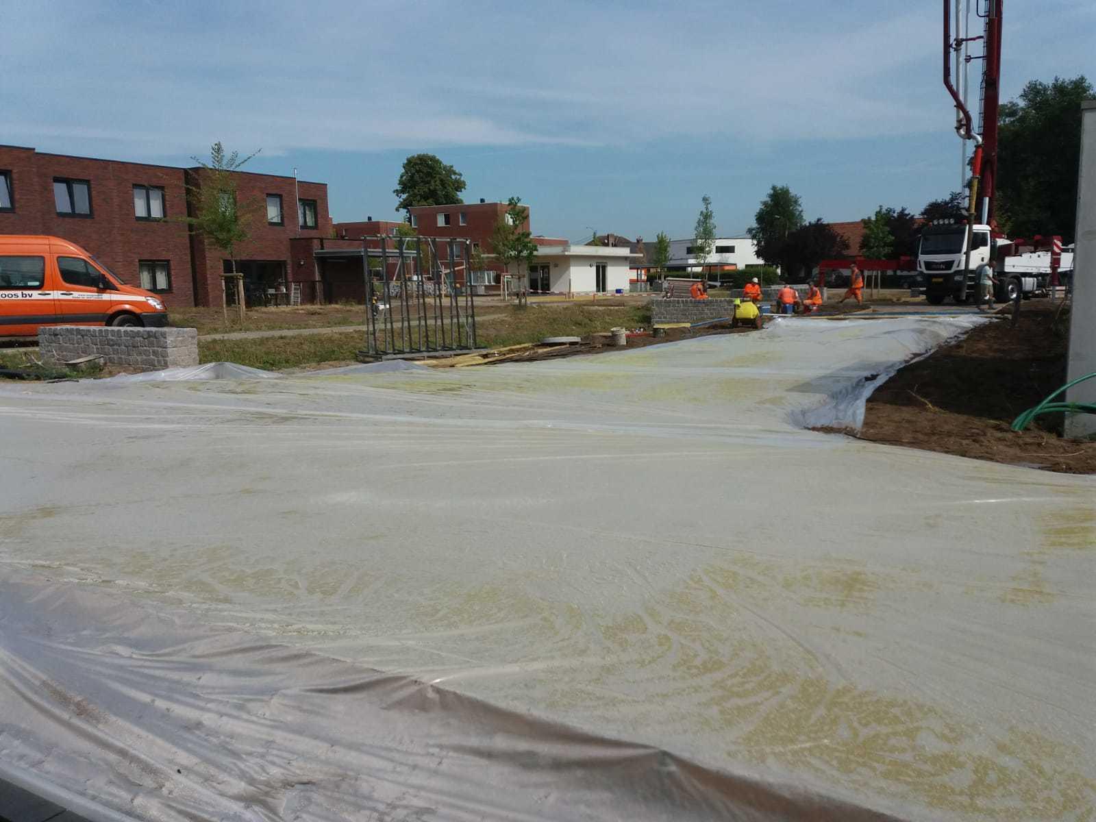 Uitgewassen beton in Kasterlee