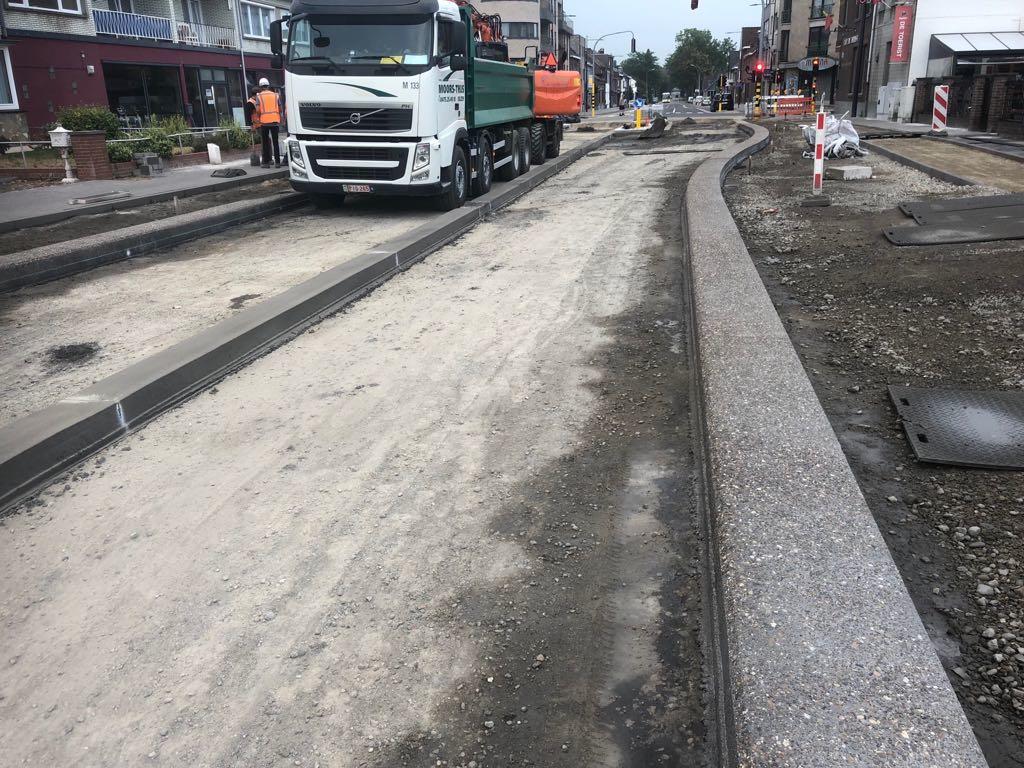 Uitgewassen beton in Lanaken