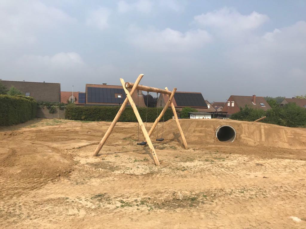 Aanleg speeltuin Bierbeek