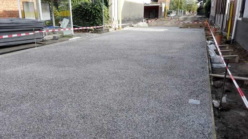 Uitgewassen beton in Grimbergen