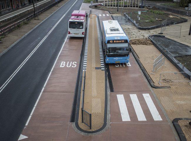 Busbaan van beton