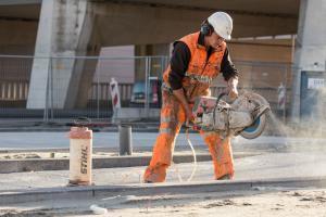 Zagen van beton